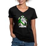 Weare Family Crest Women's V-Neck Dark T-Shirt