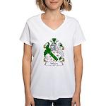 Weare Family Crest Women's V-Neck T-Shirt