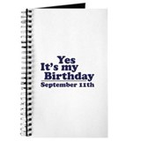 September 11th Birthday Journal