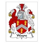 Wayne Family Crest Small Poster