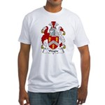 Wayne Family Crest Fitted T-Shirt