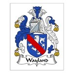 Wayland Family Crest Small Poster