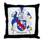 Wayland Family Crest Throw Pillow