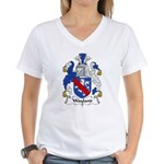 Wayland Family Crest Women's V-Neck T-Shirt
