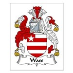 Wass Family Crest Small Poster