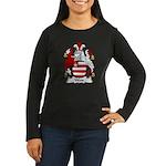 Wass Family Crest Women's Long Sleeve Dark T-Shirt