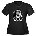 Warter Family Crest Women's Plus Size V-Neck Dark
