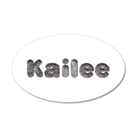 Kailee Wolf 20x12 Oval Wall Decal
