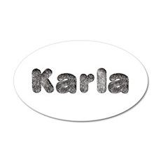 Karla Wolf 35x21 Oval Wall Decal