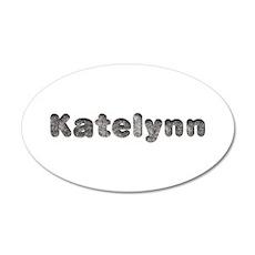 Katelynn Wolf 20x12 Oval Wall Decal