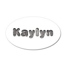Kaylyn Wolf 35x21 Oval Wall Decal