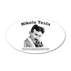 Tesla: Power 20x12 Oval Wall Decal