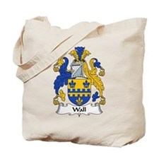 Wall Family Crest Tote Bag