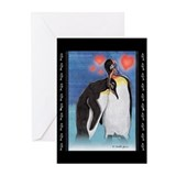 Emperor penguin illustration Greeting Cards (Pk of 10)