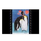 Emperor penguin illustration Postcards (Package of 8)