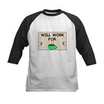 WILL WORK FOR COFFEE Kids Baseball Jersey