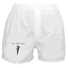 Distressed Runner Silhouette (Custom) Boxer Shorts