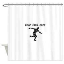 Distressed Discus Throw Silhouette (Custom) Shower