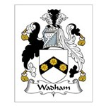 Wadham Family Crest Small Poster