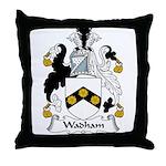 Wadham Family Crest Throw Pillow