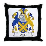 Wade Family Crest Throw Pillow