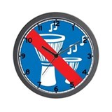 No Djembe Playing - Spain Wall Clock
