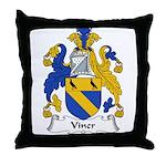 Viner Family Crest Throw Pillow