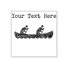 Distressed Canoeing (Custom) Sticker