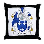 Vincent Family Crest Throw Pillow