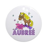 I Dream Of Ponies Aubree Ornament (Round)