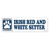 IRISH RED AND WHITE SETTER Bumper Bumper Sticker