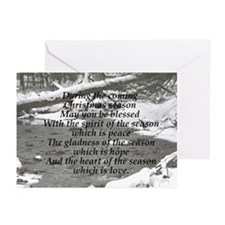 Christmas Season Blessings Greeting Cards 10/pk
