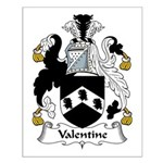 Valentine Family Crest Small Poster