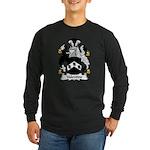 Valentine Family Crest Long Sleeve Dark T-Shirt
