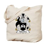 Valentine Family Crest Tote Bag