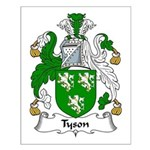 Tyson Family Crest Small Poster