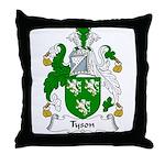 Tyson Family Crest Throw Pillow