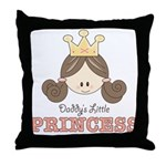Daddy's Princess Pink Brown Throw Pillow