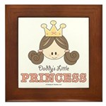 Daddy's Princess Pink Brown Framed Tile