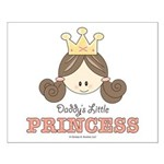 Daddy's Princess Pink Brown Small Poster