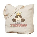 Daddy's Princess Pink Brown Tote Bag