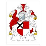 Tutt Family Crest Small Poster