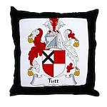 Tutt Family Crest Throw Pillow