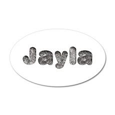 Jayla Wolf 20x12 Oval Wall Decal