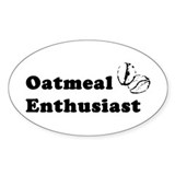 Oatmeal Enthusiast Oval Decal