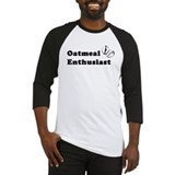 Oatmeal Enthusiast Baseball Jersey (Black)