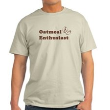 Oatmeal Enthusiast Natural Color T-Shirt