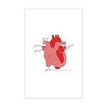 You Enter My Heart Mini Poster Print