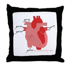 You Enter My Heart Throw Pillow