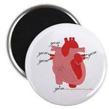 "You Enter My Heart 2.25"" Magnet (10 pack)"
